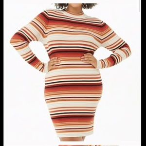 Forever 21 Plus Size Stripped Knit Dress